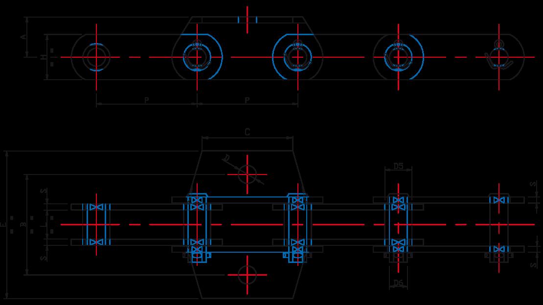 BH Metric Series Hot Elevator Chain