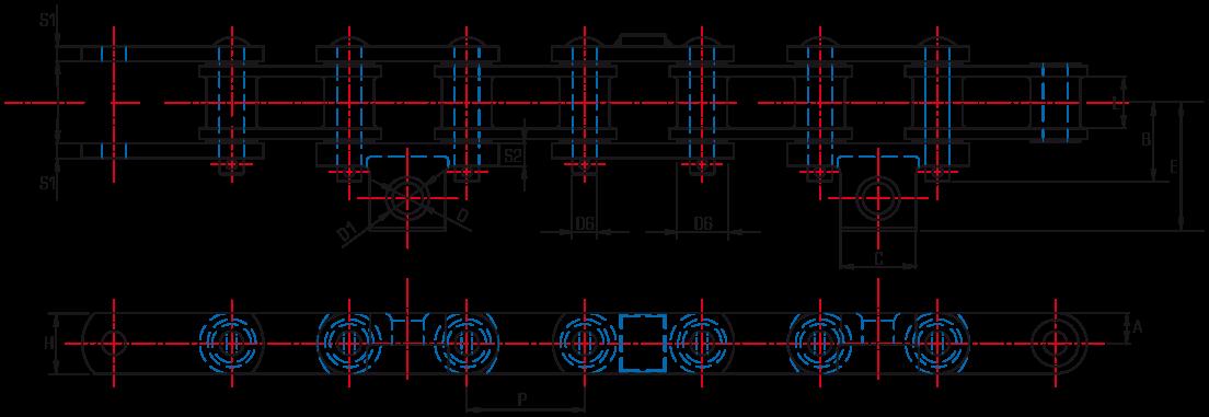 Cast Combination Paver Chains