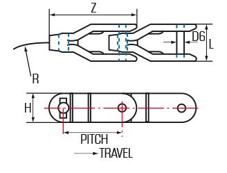 Acetal Case Chains - 1400 Series