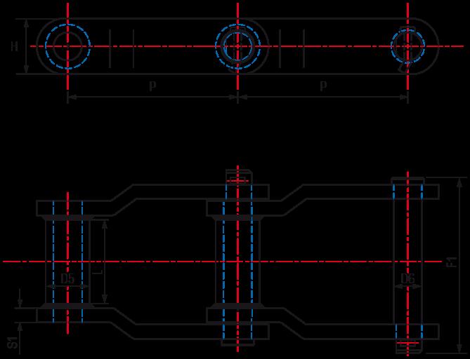 Offset Sidebar Welded Steel Chains