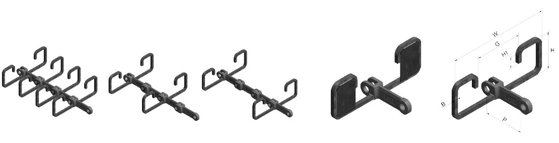 OO Type Attachments for Horizontal and Inclined Conveying (with or without blanking plate)