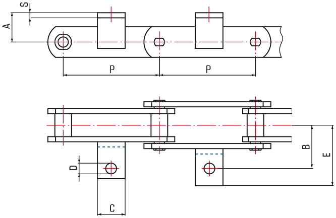 M Series Chains with A1 attachments