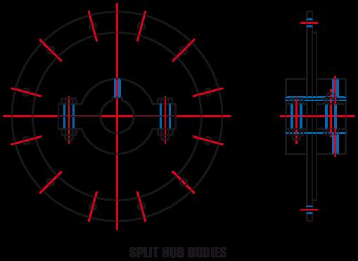 Split Hub Bodies (B29-15 and B29-12)