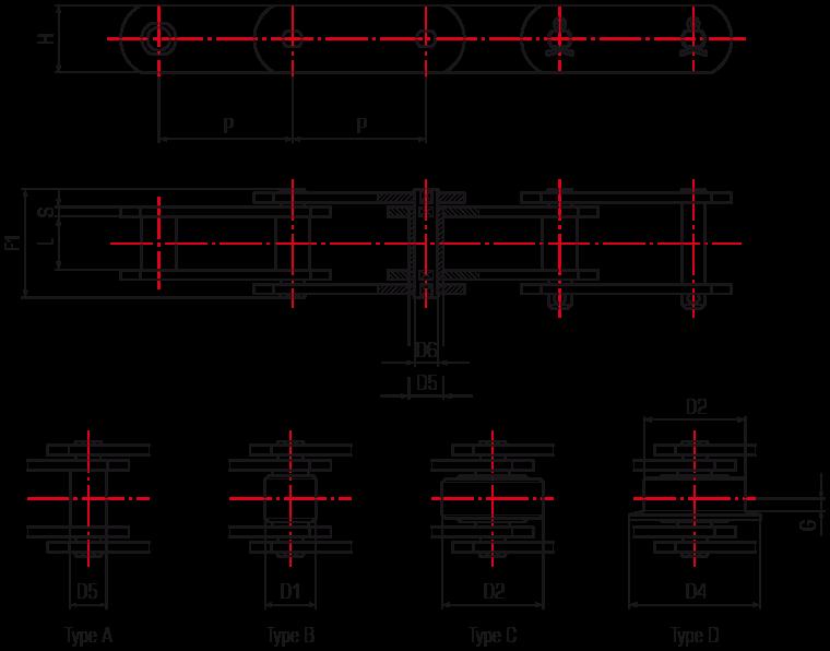 European standard lift chains ISO1977 (M series) Din 8167