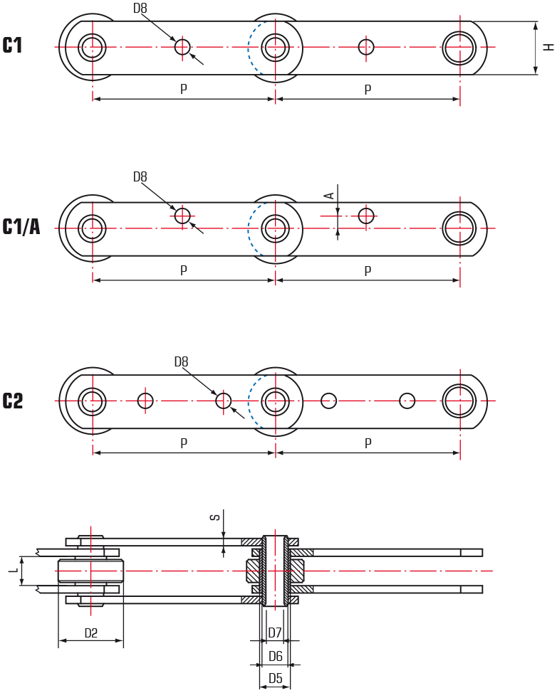 Oven Chains – Hollow Pins