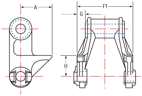 H-Class Mill Chains with RR attachments