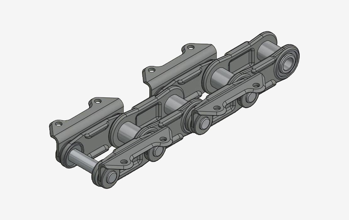 Central Chain for High Output Bucket Elevators