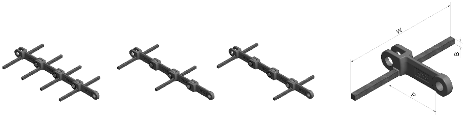 B Type Flight Attachments for Horizontal Conveying