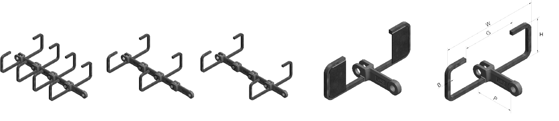 C Type Attachments for Horizontal, Inclined and Vertical Conveying (with or without blanking plate)