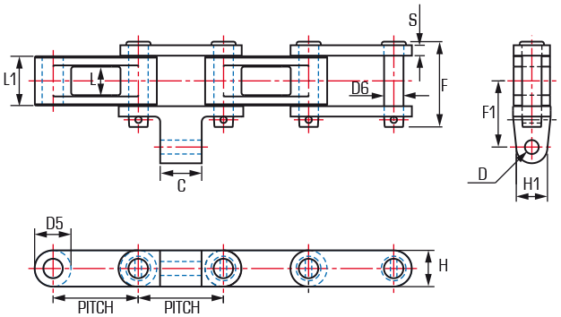 Combination Class Shuttle Car Chain