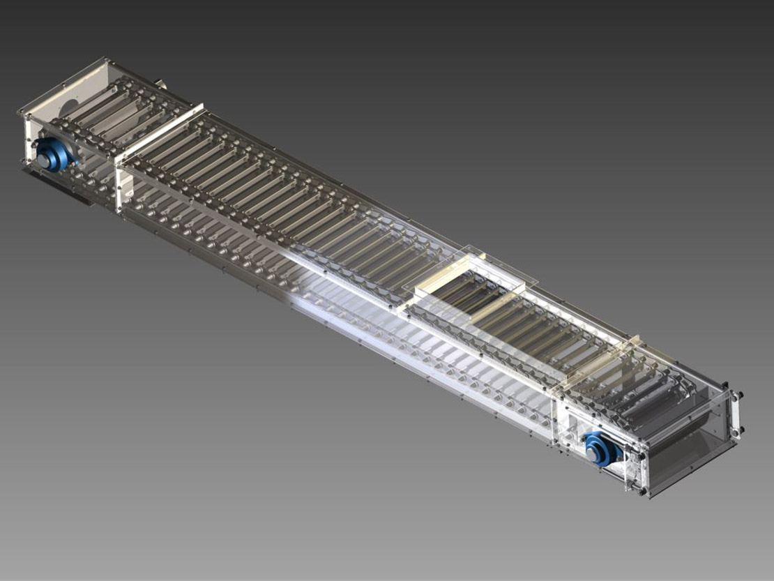"""New press feed conveyor is a """"fantastic"""" sucess so says Graham Porter of Je Porter Ltd"""