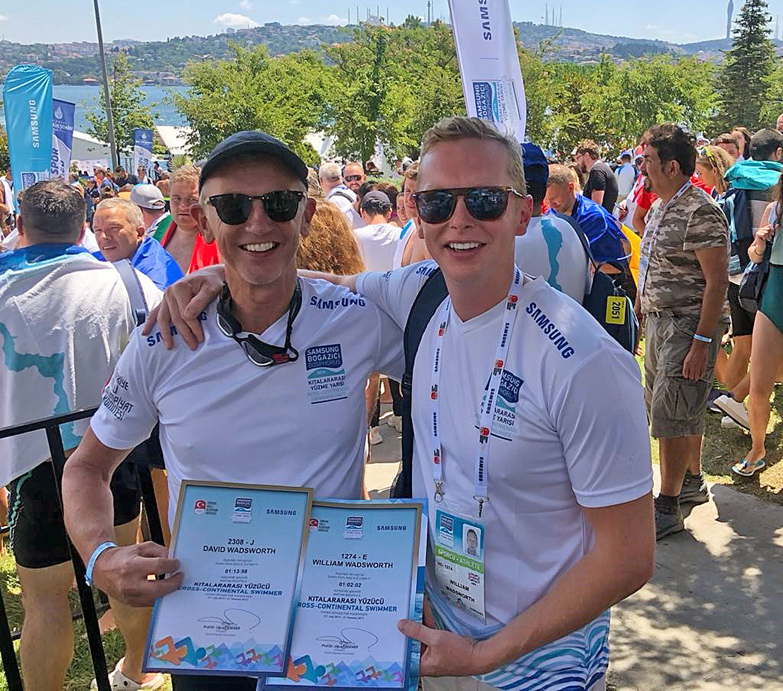 David and William Wadsworth return to the Bosporus in August this year to participate in the Intercontinental swim.