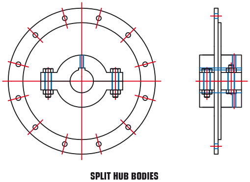 Split Hub Bodies (B29-15 and B29-12)
