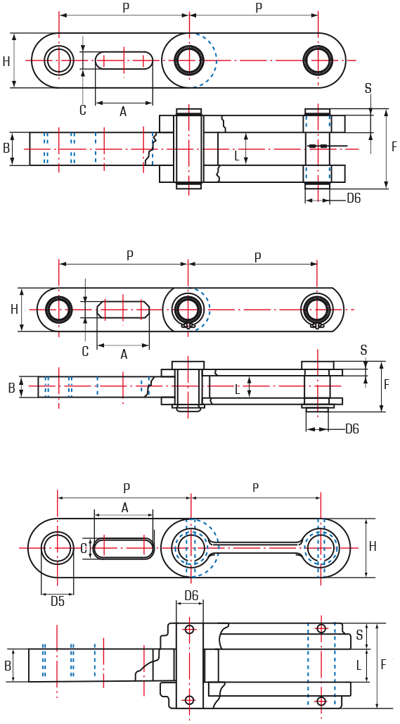 Diffuser Chains – Block and Bar Construction - drawing