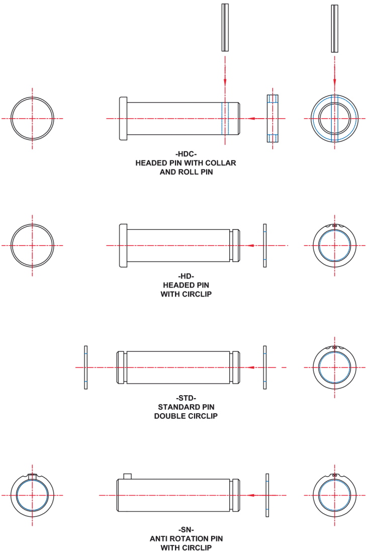 Forged pin configuration