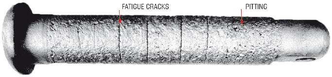 Pin Breakage from corrosion fatigue