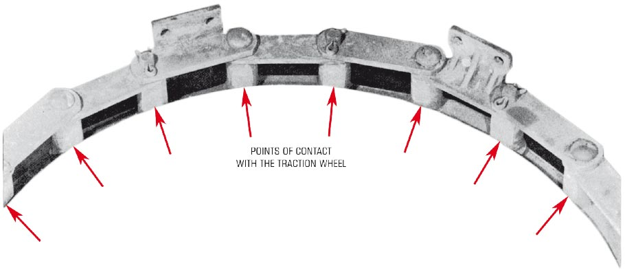 Link Wear as a result of traction wheel slippage