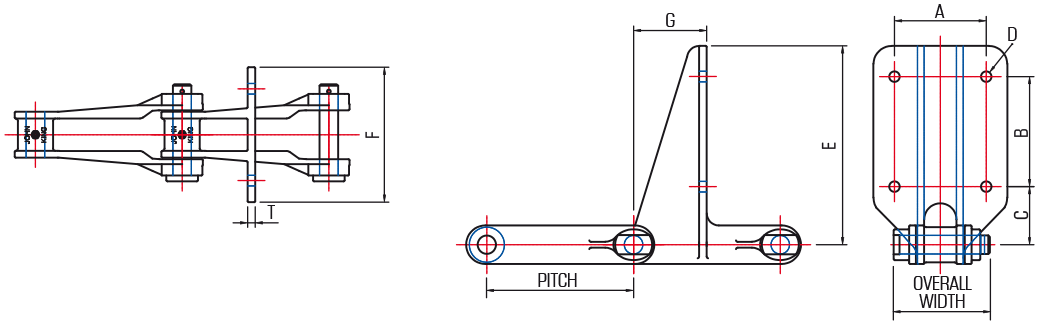700 Series Collector Chain Attachment (720) - drawing